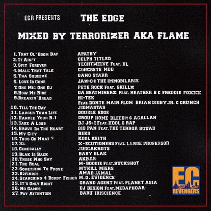 mixed by TERRORIZER AKA FLAME