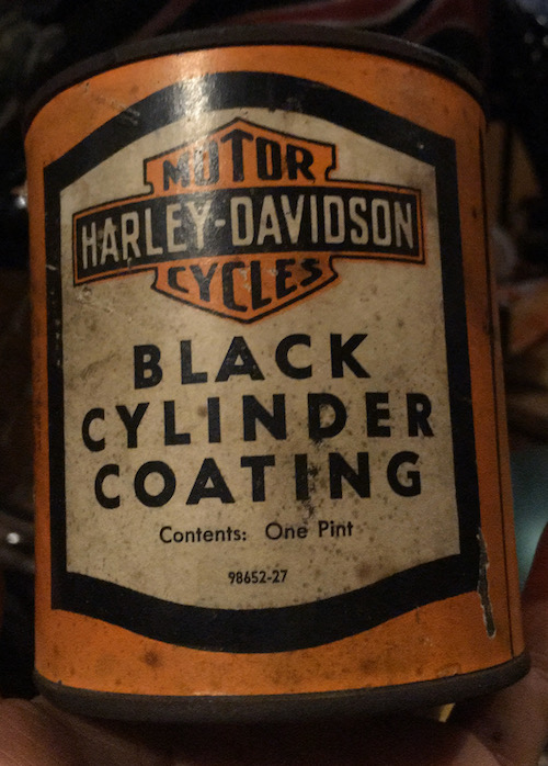 HARLEY-DAVIDSON BLACK CYLINDER COATING